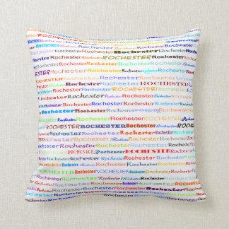 Rochester Text Design II Throw Pillow