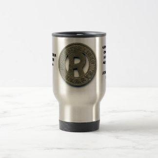 Rochester Transit Token travel mug