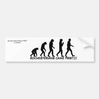"""Rochesterians came first"" bumper sticker"
