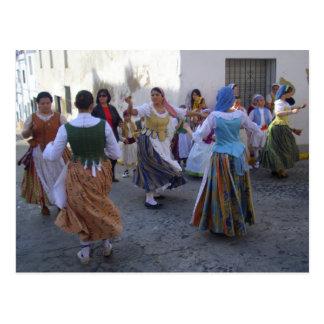 Rocho de San de la fiesta.  Oliva España Tarjeta Postal