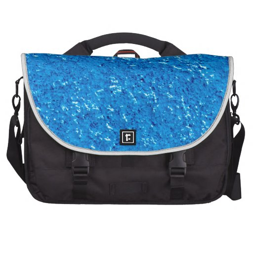 Rociada de guijarro azul bolsas para portátil