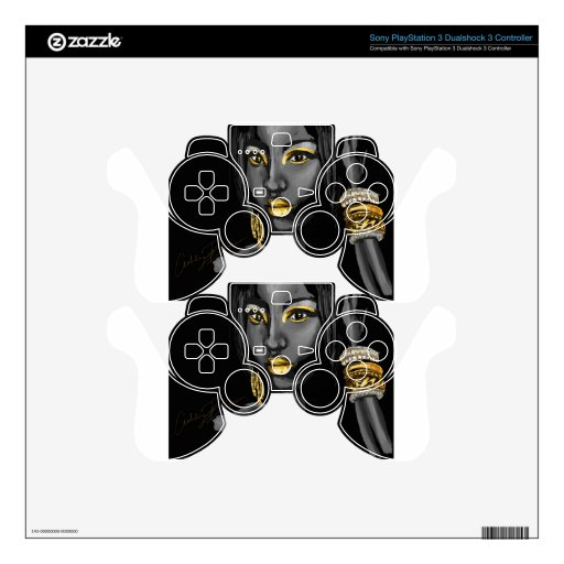 Rociada de los productos del oro mando PS3 skins