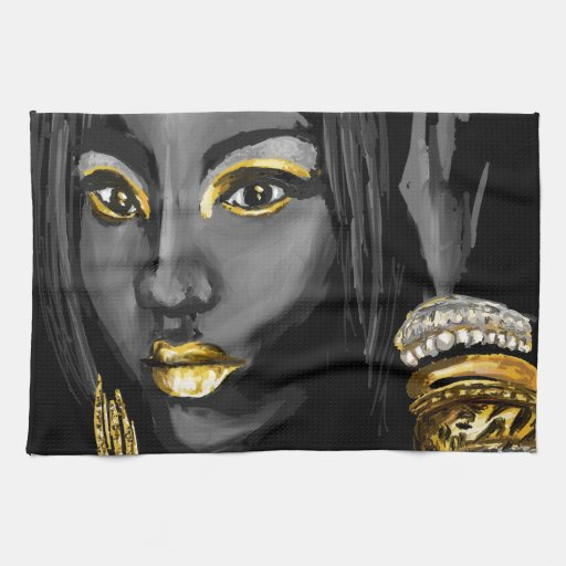 Rociada de los productos del oro toalla de mano