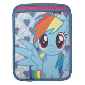 Rociada del arco iris mangas de iPad