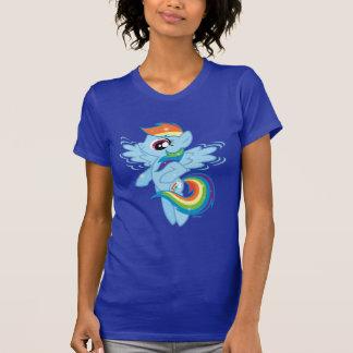 Rociada del arco iris tee shirts