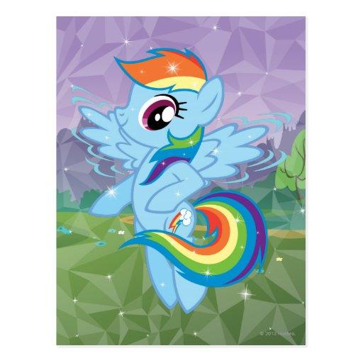 Rociada del arco iris postal