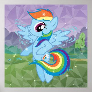 Rociada del arco iris póster