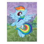 Rociada del arco iris tarjeta postal