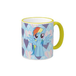 Rociada del arco iris taza de café