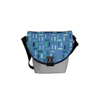 Rociada-él la bolsa de mensajero azul bolsa de mensajeria
