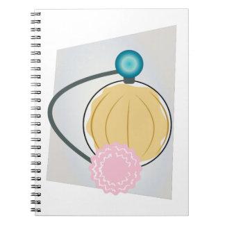 Rociador del perfume libros de apuntes con espiral