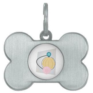 Rociador del perfume placa mascota