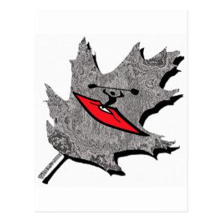 rocío de plata del kajak tarjetas postales