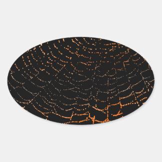 Rocío en el naranja brillante del Web en diseño ne