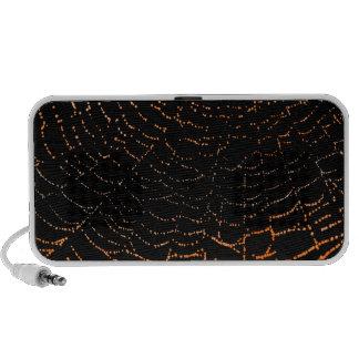 Rocío en el naranja brillante del Web en diseño ne Portátil Altavoz