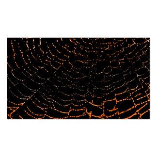 Rocío en el naranja brillante del Web en diseño Tarjetas De Visita