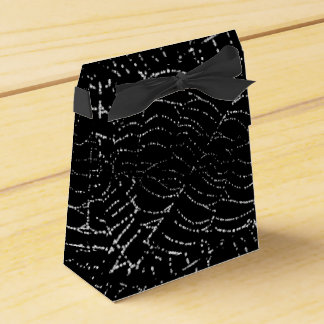 Rocío en la plata brillante del Web en diseño Caja Para Regalos De Fiestas