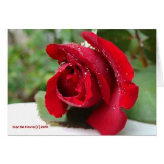 Rocío en un rosa rojo tarjeta de felicitación