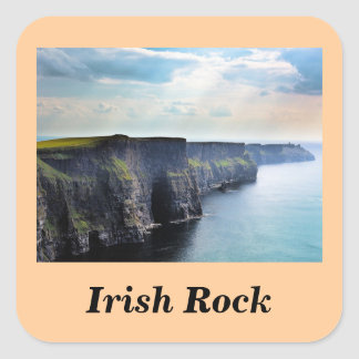 Rock#2 irlandés: Pegatinas Calcomania Cuadrada Personalizada