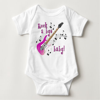Rock A Bye Baby Pink Baby Bodysuit