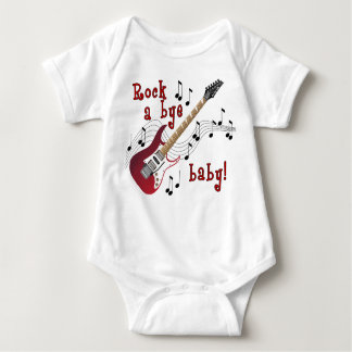 Rock A Bye Baby Red Baby Bodysuit