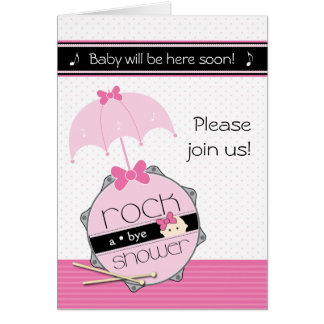 Rock a Bye Baby Shower Invitation Stationery Note Card