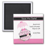 Rock a Bye Baby Shower Save the Date Magnet