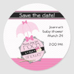 Rock a Bye Baby Shower Save the Date Sticker