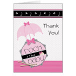 Rock a Bye Baby Shower Thank You Card