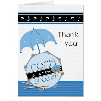 Rock a Bye Baby Shower Thank You Greeting Card