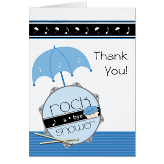 Rock a Bye Baby Shower Thank You Stationery Note Card