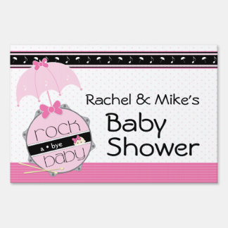 Rock a Bye Baby Shower Yard Sign