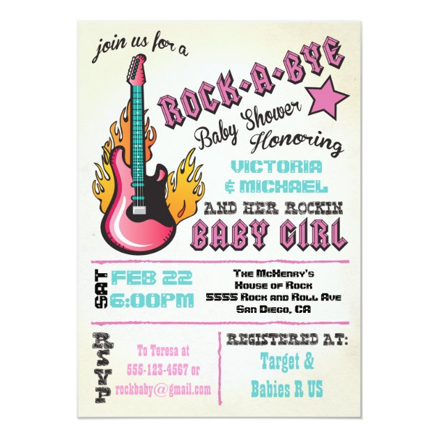Rock A Bye Baby Shower Invitations was good invitations example