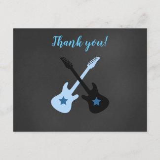Rock a Bye Rockstar Guitar Thank you notes
