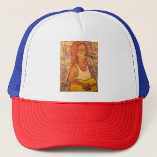 Rock Acoustic Girl Trucker Hat