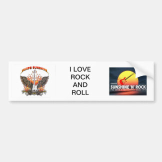 ROCK ADHESIVE BUMPER STICKER