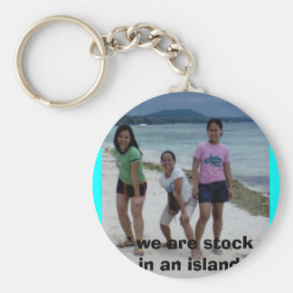 rock alone......., we are stock in an island.. basic round button keychain