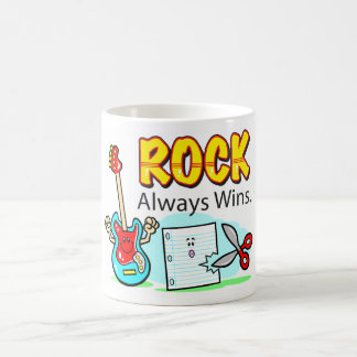 Rock Always Wins Drink Containers Classic White Coffee Mug