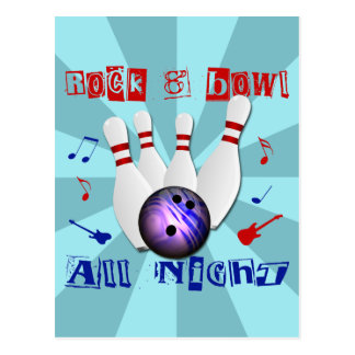 Rock and Bowl All Night Postcard