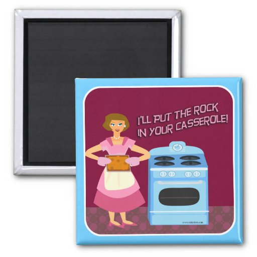 Rock and Casserole Magnet