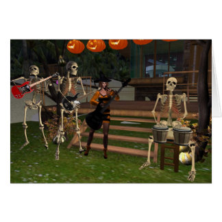 Rock and Rattle Halloween Card