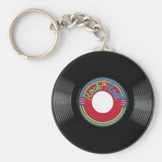 Rock and Roll 45 Record Keychain