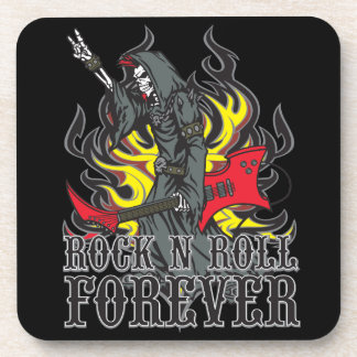 Rock and Roll 4 Ever Grim Reaper Cork Coasters