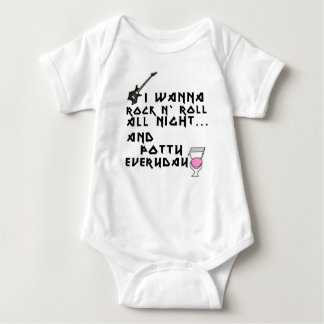 Rock and roll all night baby bodysuit