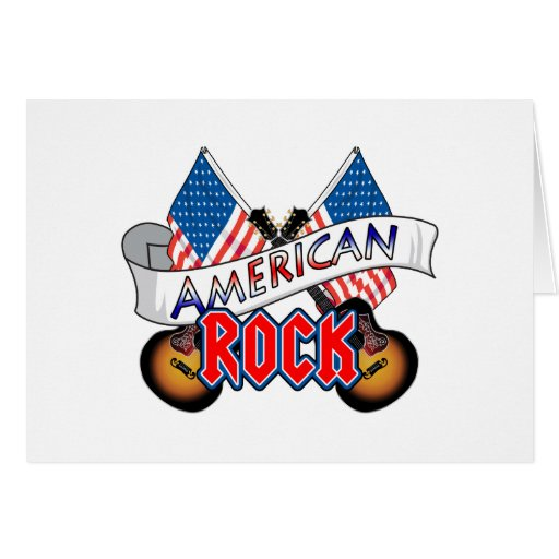 Rock-and-roll americano tarjeta de felicitación