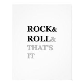 Rock and Roll And That's It Letterhead