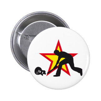 rock and roll pinback button
