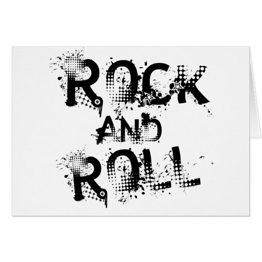 Rock and Roll Card
