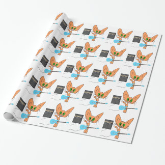 Rock And Roll Cat Gift Wrap