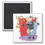 Rock and Roll Cow Magnet